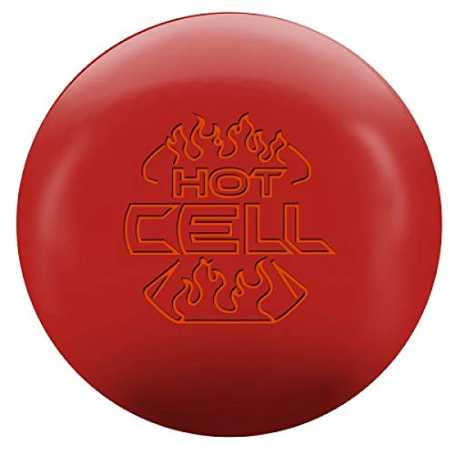 Roto-Grip Hot Cell rote Urethane Oberfläche, Reaktiv Bowlingkugel für Einsteiger und Turnierspieler - inklusive 100ml EMAX Ball-Reiniger Größe 13 LBS