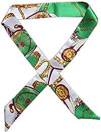 Yasminey Dames Multifonction Tissu En Soie Cravate Motif Foulard Avec  Mouchoir Coloré Châle Vêtements Chics Confortable 0e696e6c0a5