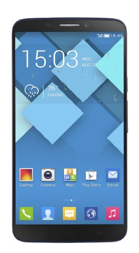 "Foto Alcatel Hero Bluish Black Phablet, Display Touch da 6"", Quad Core da 1.5 GHz, RAM da 2 GB, Nero [Italia]"