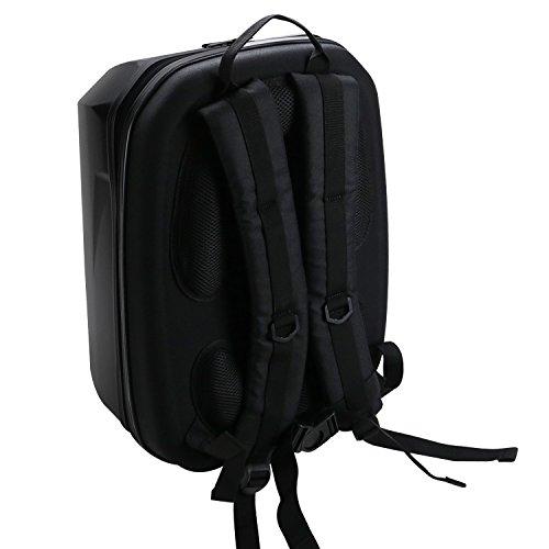 HMF 18608-02 Rucksack Hartschale, Transporttasche passend DJI Phantom 2 und 3 Standard, Professional, Advanced Drohne, 42 x 39 x 28 cm, schwarz - 3