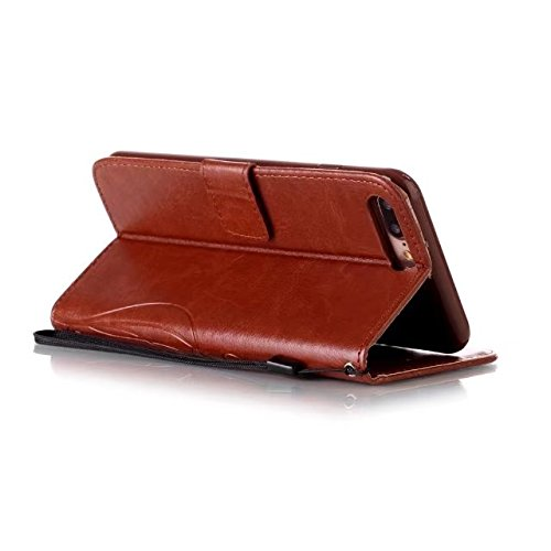 iPhone 7 Plus Hülle, iPhone 8 Plus Hülle, Valenth PU Leder Brieftasche Hülle Cover [Stand Feature] [ID Card Slots] Flip Cover für iPhone 8 Plus / iPhone 7 Plus 2#