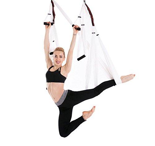 Liuhoue aerial yoga amaca insieme volo, amaca invertito amaca sollevamento piastra e set completo di estensione cintura-d