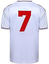 Official Retro England 1982 World Cup Finals No7 shirt 51% POLYESTER 49% COTTON