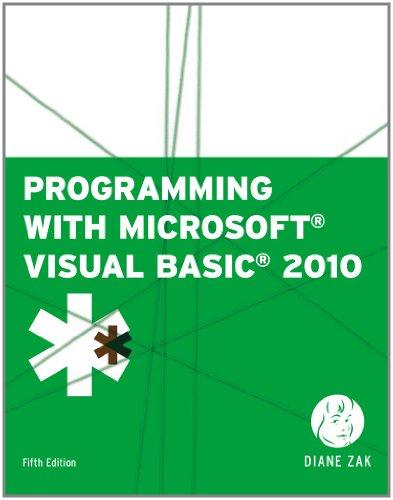 Programming with Microsoft Visual Basic 2010