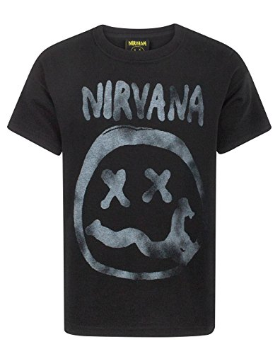 Nirvana Smiley Logo Boy's T-Shirt (7-8 Years)