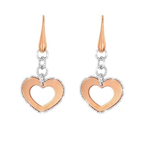 Stroili - Orecchini cuore in bronzo bicolore per Donna - Eclipse