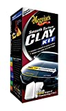 Meguiar's G1016EU Smooth Surface Clay Kit, 473ml+2*80g Lackreinigungsset