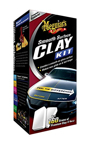 Meguiar's G1016EU Smooth Surface Clay Kit, 473ml+2*80g Lackreinigungsset - Reparatur Behandlung Shampoo