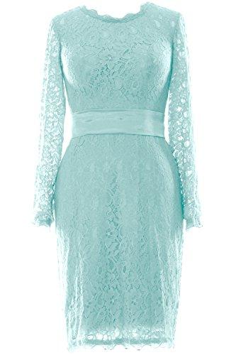 MACloth - Robe - Trapèze - Manches Longues - Femme Bleu - Aqua