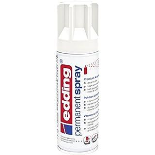 edding 5200 Permanent-Spray - verkehrs-weiß matt - 200 ml - Acryllack zum Lackieren und Dekorieren von Glas, Metall, Holz, Keramik, lackierb. Kunststoff, Leinwand, u. v. m. - Sprühfarbe