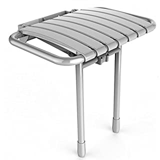 AKW-Slatted Folding Shower Seat White Bama PMR (Access)