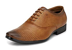 Mactree Men Tan Artificial Leather Lace Up Formal Shoes-922-8
