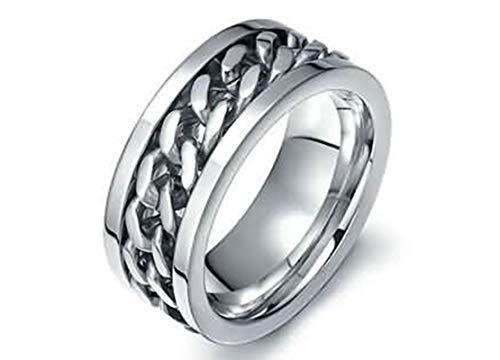 925 Mit Gravur Kette Silber Ring Für Herren Size:74 (23.6) ()