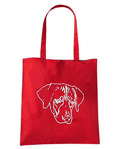 T-Shirtshock - Borsa Shopping FUN1241 dog breed decal 03 29593 Rosso
