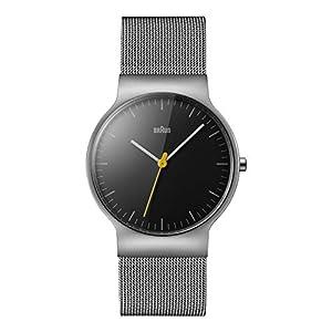 Braun Unisex-Armbanduhr Analog Quarz Edelstahl BN0211BKSLMHG