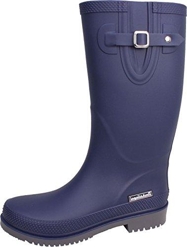 BOCKSTIEGEL® JETTE - Standard/K/KB Stivali di gomma corto per la Donna | Fibbia laterale alla moda | Logo del marchio | Produzione europea | Confortevole blue / grey