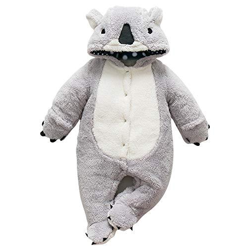 Kostüm Koala Baby - Dizoony Baby Kleidung Kids Koala Rompers Kleinkinder Hoodie Strampler Winter Overall