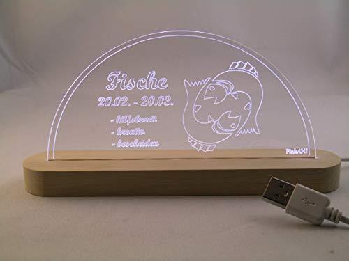 LED Bogen Schwibbogen Leuchterbogen Sternzeichen Fische USB Motivlampe Motivleuchte -