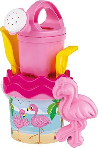 Androni Giocattoli Sandspielzeug Flamingo Baby klein mit Sandform in pink