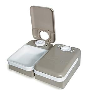 PetSafe - Distributeur de Nourriture et Croquettes Automatique 2 Repas d'environ 150gr chaque pour Animaux, Sans BPA, Antidérapant, Lavage Facile, pour Chien, Chat