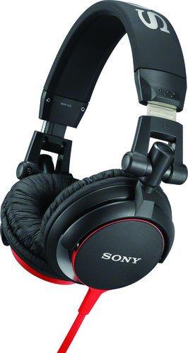 Sony MDRV55R - Auriculares de diadema cerrados, negro y rojo