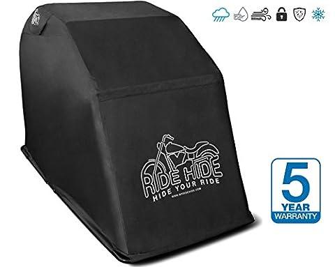 Ridehide Housse de protection pour moto respirante | protection sans contact et entièrement ventilée | haute qualité. Uniquement housse avec coutures coutures collées et soudées.