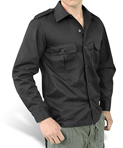 Surplus Herren Hemd US Hemd Langarm 06-3584 Black (06-3584)