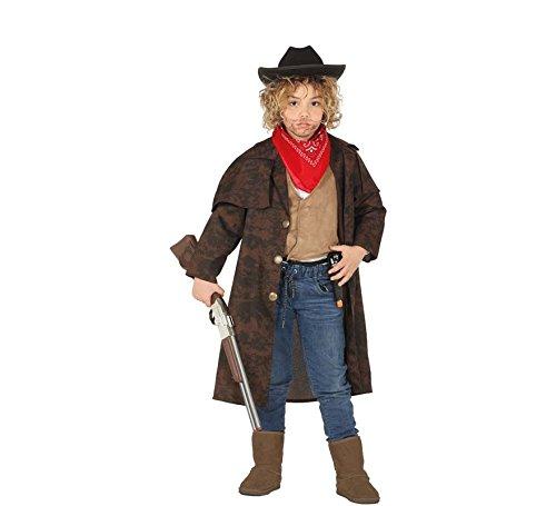 Kostüm Duster Mantel Western - Fiestas Guirca Kinder Western Brown Cowboy Duster Mantel Large (7-9 Yrs)