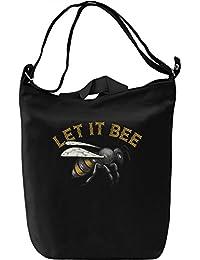 Let it bee Bolsa de mano Día Canvas Day Bag| 100% Premium Cotton Canvas| DTG Printing|