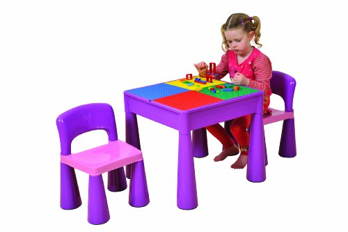 Liberty House Kindertisch mit zwei Stühlen lila