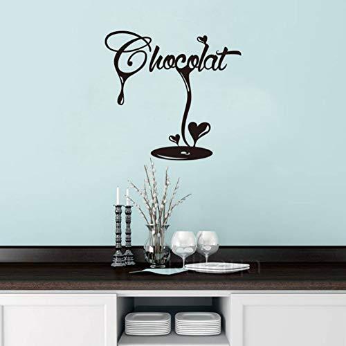 Schlafzimmer Wandaufkleber Aufkleber Französisch Latte Chocolate Fudge Vinyl Tapete Wandbild Wandkunst Küche Dekoration Wohnkultur Dekoration 55 cm * 55 cm -