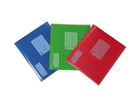 Scotch farbigen Smart Versandbox, 12Stück 8.5 x 11 Inches Red, Green Blue