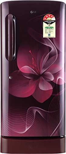 LG 215 L 4 Star Direct Cool Single Door Refrigerator(GL-D221ASDX.DSDZEBN, Scarlet Dazzle, Base Stand with Drawer,Smart Inverter Compressor)