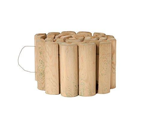 Catral 31010004 - Bordura flexible de madera tratada 30x250 cm. diam.7 cm.