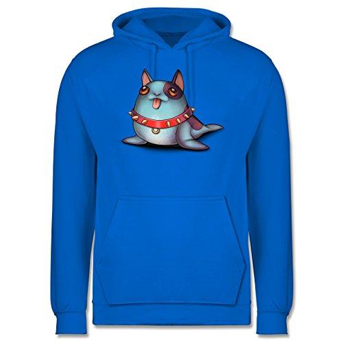 Sonstige Tiere - Seehund - Männer Premium Kapuzenpullover / Hoodie Himmelblau