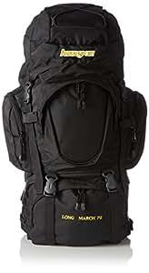 AspenSport AB15Y04 Long March Sac à dos pour adulte, noir, 80x 45x 32cm, 70l