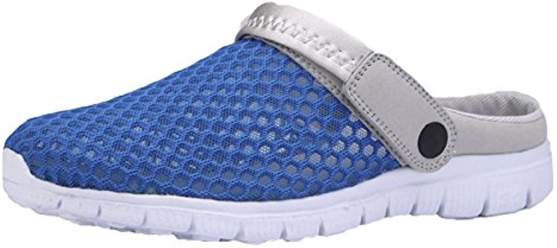 Unisex Adultos Pantuflas de Malla Respirable Sandalias Zapatos de Mulas Zapatos de Mulas Sandalias R R de Verano...