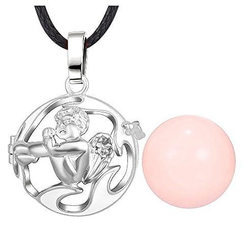 BOBIJOO Jewelry - bola Schwangerschaft Halskette Engel Silber E-Mail weiß Silber rosa Anhänger Schnur
