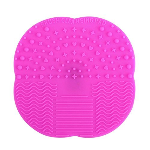 Ouneed Fashion Cosmetic Cleaning Glove MakeUp Washing Brush Scrubber Board Cosmetic Clean (Hot Pink) by - Jungen Make-up-kit