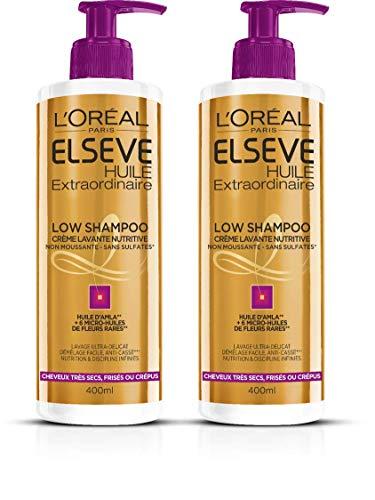 L'Oréal Paris Elsève Low Shampoo Nutrition Cheveux Frisés, Crépus, Très Secs 400 ml -...