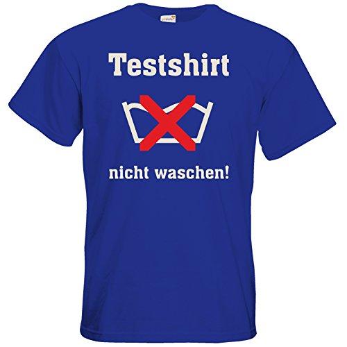 getshirts - RAHMENLOS® Geschenke - T-Shirt - Testshirt nicht waschen - das muss so riechen Royal Blue