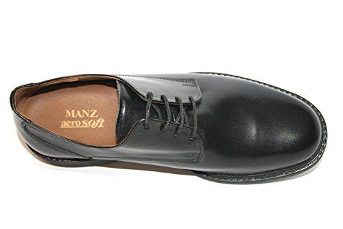 Manz, Scarpe stringate uomo Nero nero Nero (Schwarz (schwarz 001))