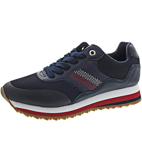 Tommy Hilfiger Damen Sneaker Corporate Retro Sneaker Marine (52) 38 Retro-sneaker