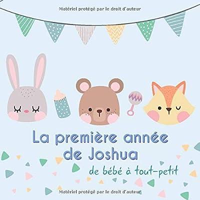 La première année de Joshua - de bébé à tout-petit: Album bébé à remplir pour la première année de vie - Album naissance garçon