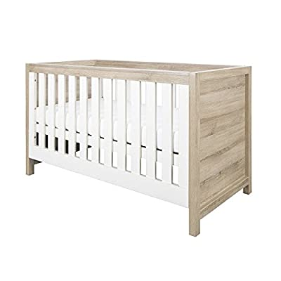 Tutti Bambini Modena Cot Bed - Converts from Cot Bed to Toddler/Junior Bed & Sofa Bed (White & Oak)