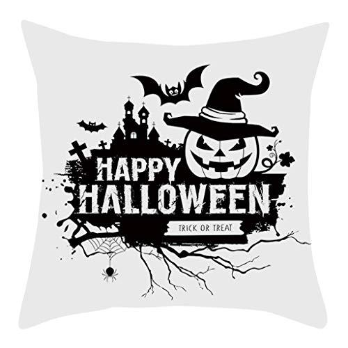 Lomelomme Halloween Kissenbezug mit Aufdruck Kürbis Kissenbezug Taille Throw Kissenbezug Sofa Home Decor Sofakissen (Sarg Der Königin Kostüm)