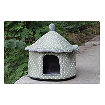 SGLI House Shape Pet Nest Small Medium Pet House Removable And Washable Four Seasons Universal Pet Nest Pet nest from SGLI
