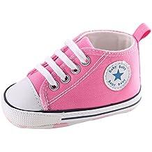 Zapatillas de Deporte Lindas Suaves Antideslizantes del Zapato (S: 0~6 meses, Rosado)