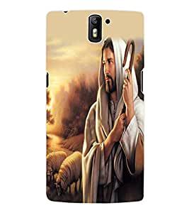 Fuson 3D Printed Lord Jesus Designer Back Case Cover for OnePlus One - D533