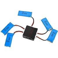 USB Charger + 5x 3.7V 500mAh 25C Li-Po Batteria per